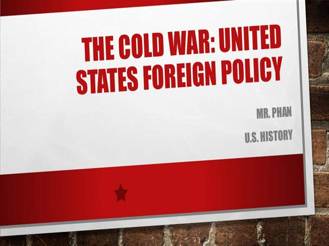 an introduction to the united states foreign policy in the cold war In summary, the goals of the united states during the cold war were essentially to expand their influence on other countries, and to have them as potential allies (and not to the ussr) the usa and ussr were constantly trying to outdo each other with scientific research, such as going to the moon.