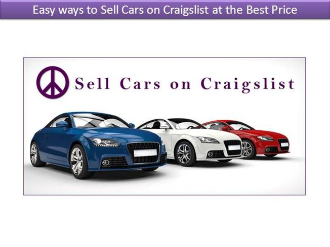 easy ways to sell cars on craigslist at the best price authorstream. Black Bedroom Furniture Sets. Home Design Ideas