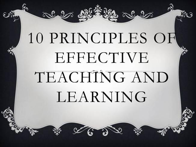 twelve principles of effective teaching and 5 principles for teaching adult learners by talisha holmes the motivations to learn evolve as you become older and for an adult educator, teaching can be even more difficult without a basic understanding of adult learning theory.