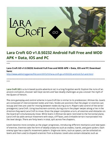 lara croft go apk obb download