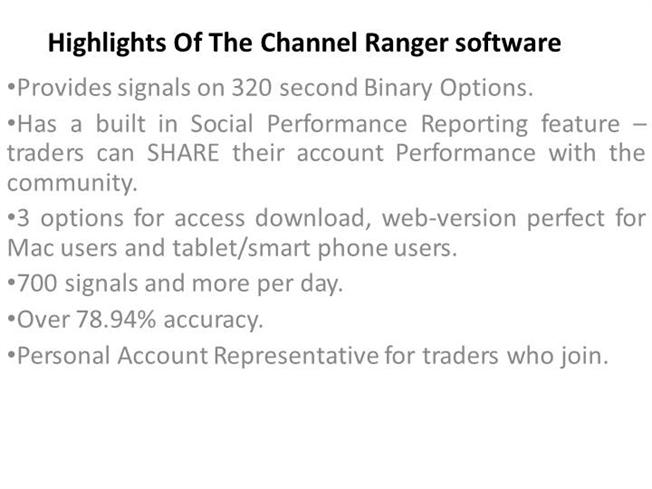 Binary options channel ranger