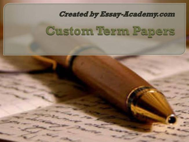 Get Customized Papers from Custom Term Paper Writers