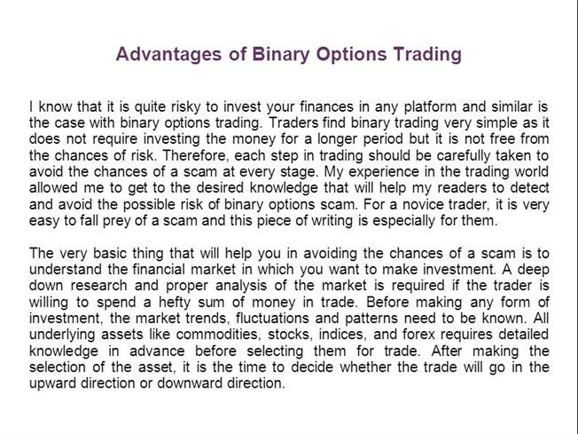Advantages of Trading Options