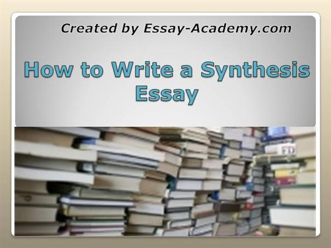 synthesis paper ideas Essay one topic: explanatory synthesis paper essay description essay one will consist of a typed  you may choose one of the following topics for your essay:.