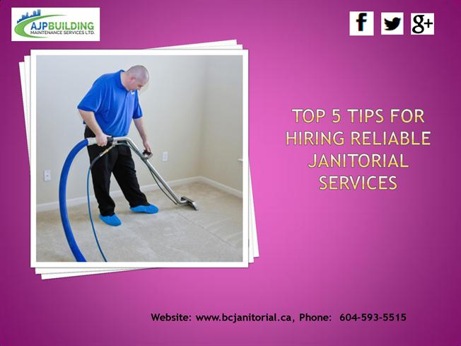 top 5 tips for hiring quality janitorial services