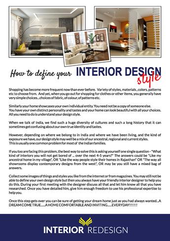 How To Define Your Interior Design Style Byeternity