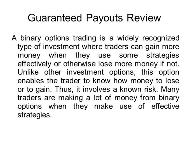 Options trading systems reviews