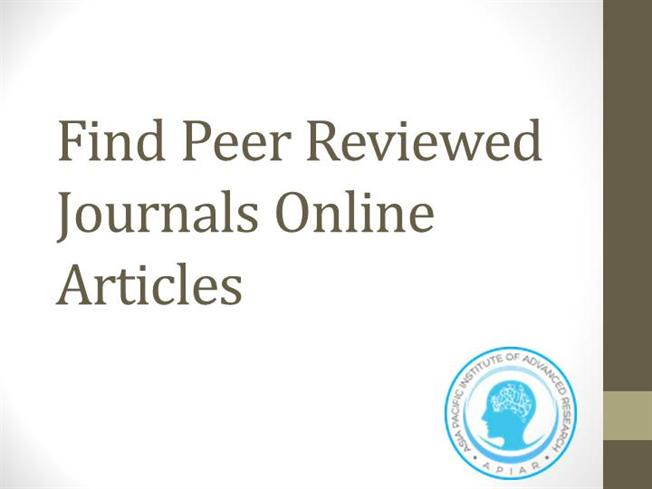 peer reviewed journal articles on stress