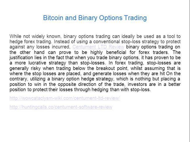 bitcoin binary options cantor