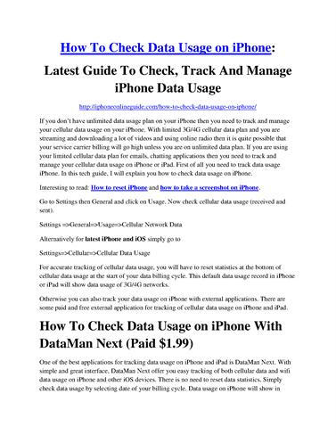 how to stop data usage on iphone 3