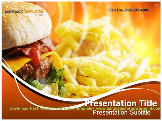 Online Downaload Fast Food Powerpoint Template Authorstream