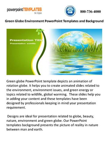Green globe environment powerpoint templates and background green globe environment powerpoint templates and background authorstream toneelgroepblik Gallery
