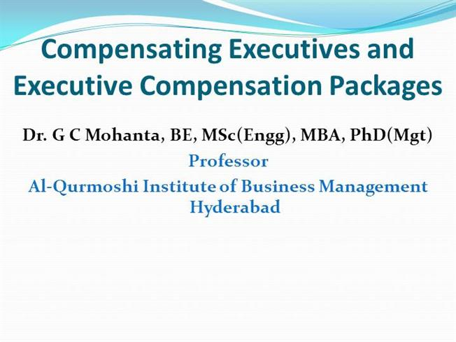 executive compensation presentation Proprietary & confidential | ec trends & topicsppt/wdl-03788 07/2012 -formally benchmarking executive compensation levels is occurring annually -implementation of clawback policies have stalled as companies are waiting on final prescriptions.