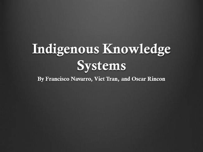 what is indigenous knowledge pdf