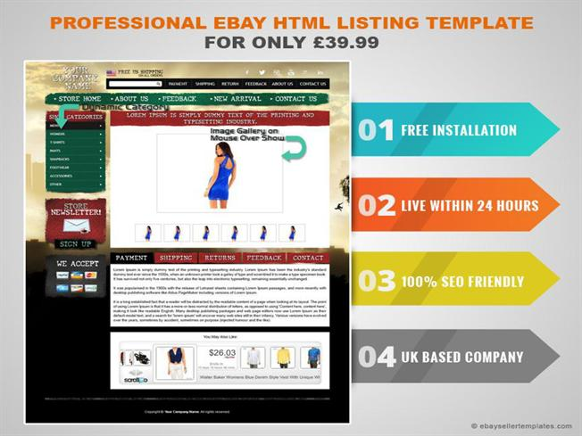 Professional Ebay HTML Listing Template for Only £39.99 |authorSTREAM