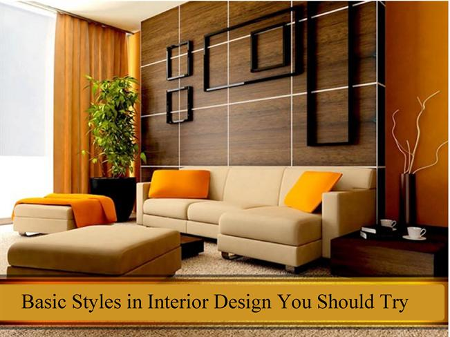 Basic styles in interior design you should try authorstream for Apartment design ppt