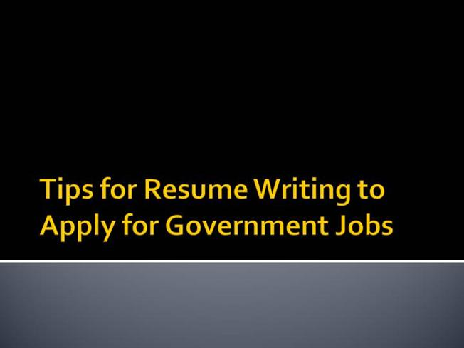 tips for resume writing to apply for government