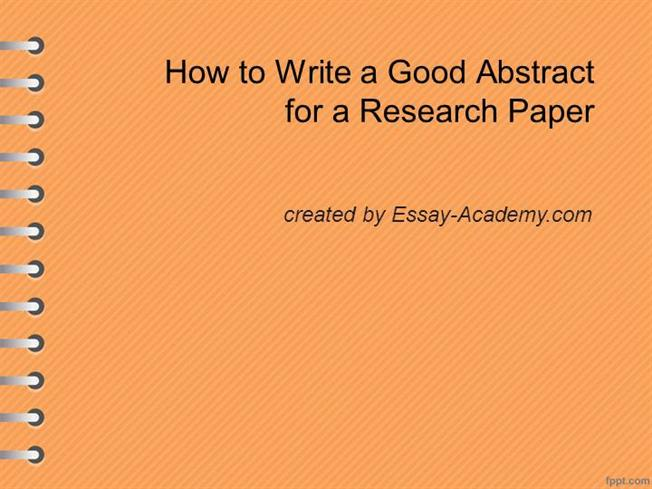 what should be in the abstract of a research paper While the abstract will be at the beginning of your paper, it should be the last section that you write once you have completed the final draft of your psychology paper , use it as a guide for writing your abstract.