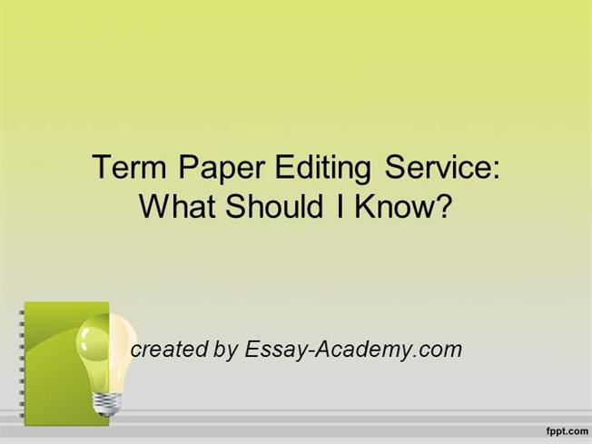 Does your heart sink a little when you are assigned to write a term paper?