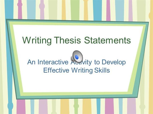 education thesis statements