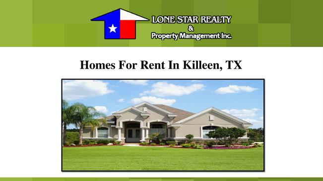 Homes for rent in killeen tx authorstream for Home builders in killeen tx