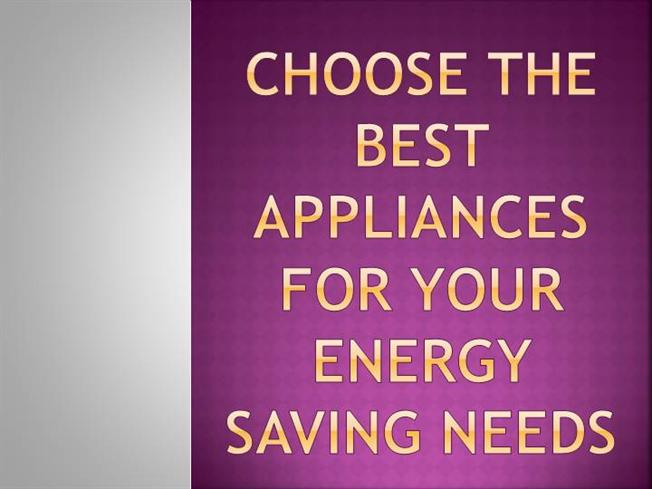 Choose the best appliances for your energy saving needs authorstream - Choosing right freezer ...