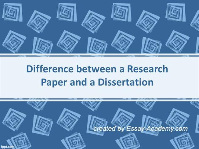 what is the difference between a dissertation and a research paper There is also a difference between the thesis/dissertation and  documented research paper  difference between thesis and dissertation is.