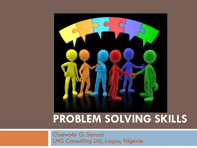 essay problem solving skills Social problem-solving might also be called 'problem-solving in real life' in other words, it is a rather academic way of describing the systems and processes that we use to solve the problems that we encounter in our everyday lives.