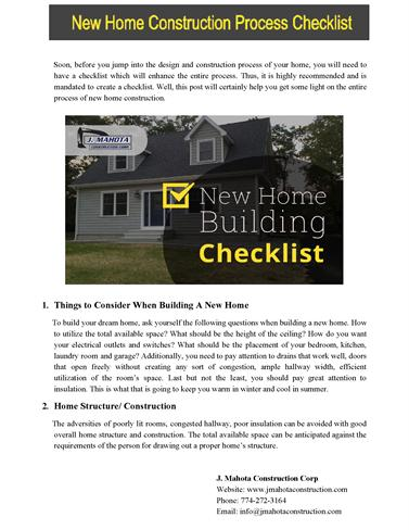 New home construction process checklist authorstream for New home construction checklist