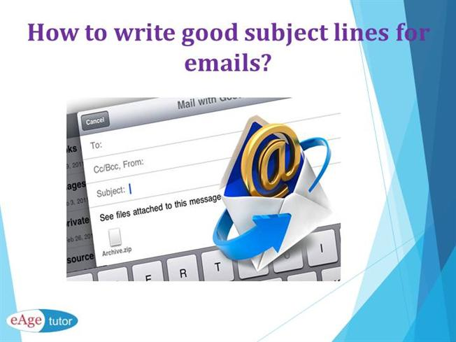 how to write a subject for an email requiring