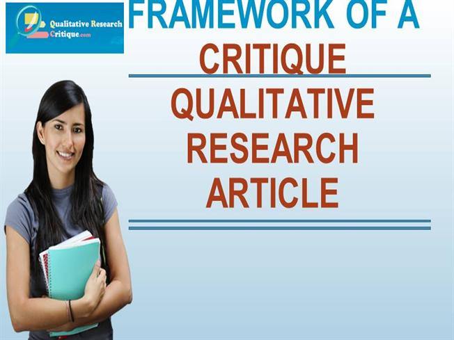 qualitative research article Comparison of qualitative and quantitative research - atlasti is a powerful workbench for qualitative data analysis of textual graphical ,video data |.