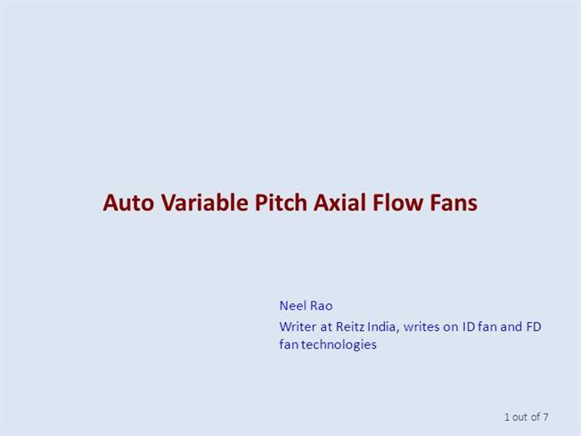 Variable Pitch Fan : Auto variable pitch axial flow fans authorstream
