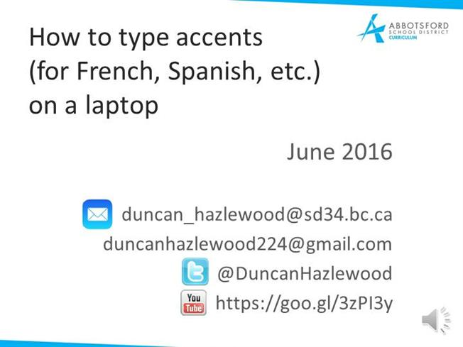 how to put accents on windows 10