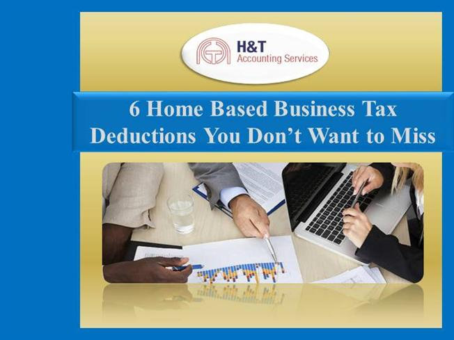 6 Home Based Business Tax Deductions You Don'T Want to Miss authorSTREAM