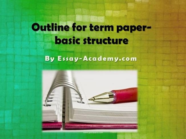 basic parts of the term paper Your paper your paper should be typed, double-spaced on standard-sized paper (85″ x 11″) with 1″ margins on all sides.