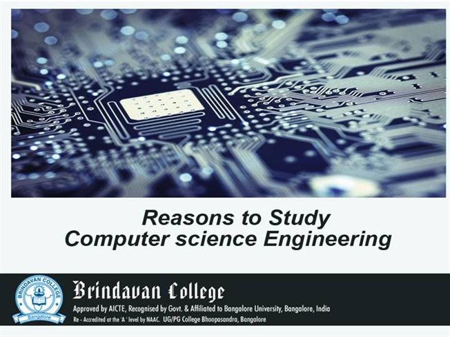 reasons for computer science Computer science needs you computing is an already huge - and constantly growing - industry in fact, the number of people required for jobs in the it sector is growing faster than the number of graduates to fill them.