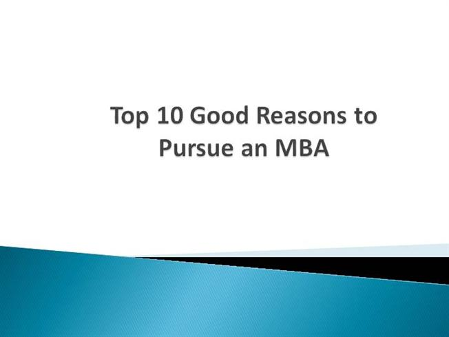 reasons for pursuing mba essays