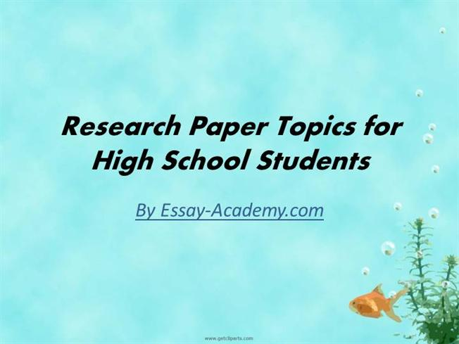 High school paper topics