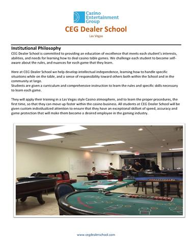 best casino dealer school las vegas