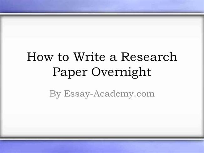 essay over night How to write a paper in a night while you may never plan for it, writing a paper  in one night is a stressful experience not only do you need to produce a certain.