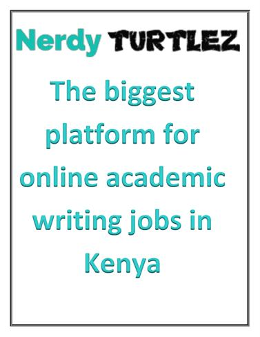 online academic writing in kenya Academic writing is conducted in several sets of forms and genres, normally in an impersonal and dispassionate tone, targeted for a critical and informed aud.