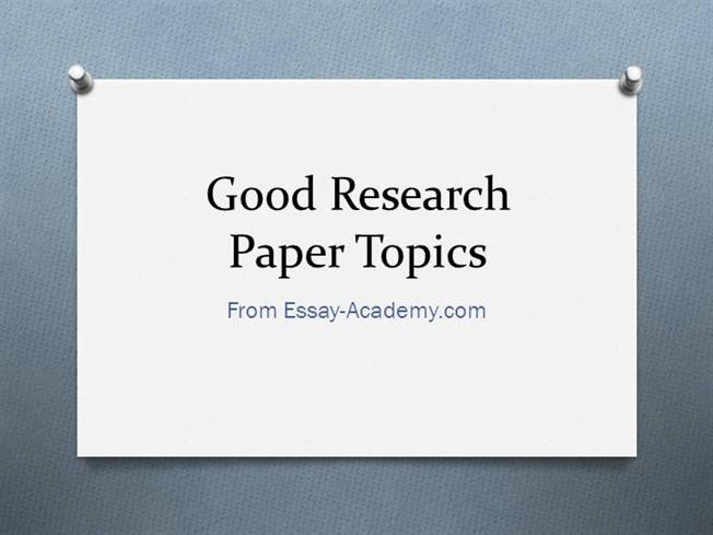 really good research paper topics It was a 12 page paper condensed into 6 pages, and written by me, so it was an okay paper, but i think it was an interesting paper i think a good paper would be comparing the differences between the original story and the disney movie.