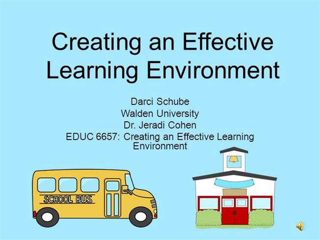 creating effective learning environments for learners