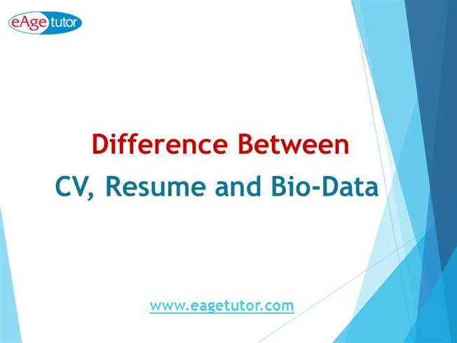 difference between cv resume bio data authorstream
