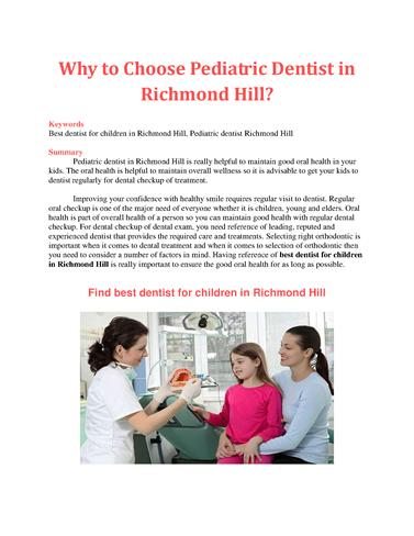 how to choose a dentist canada