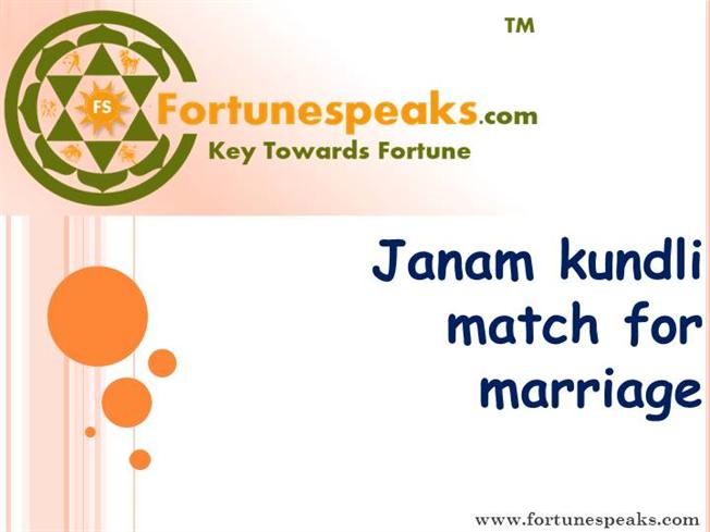 Match making kundli for marriage