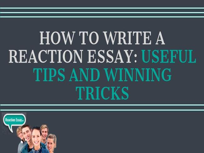 How to write a reaction essay