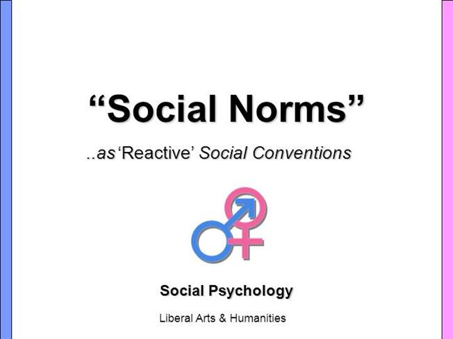sociology norms 1 general issues social norms, like many other social phenomena, are the unplanned result of individuals' interaction it has been argued that social norms ought to be understood as a kind of grammar of social interactions.