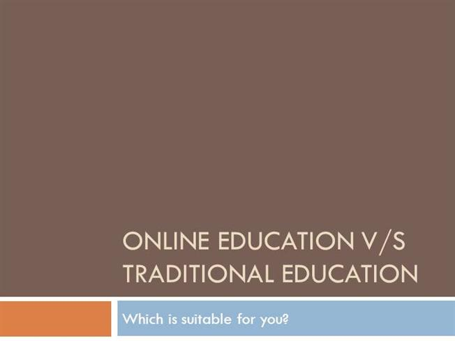 essay on online vs traditional education