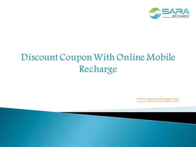 Recharge discount coupon